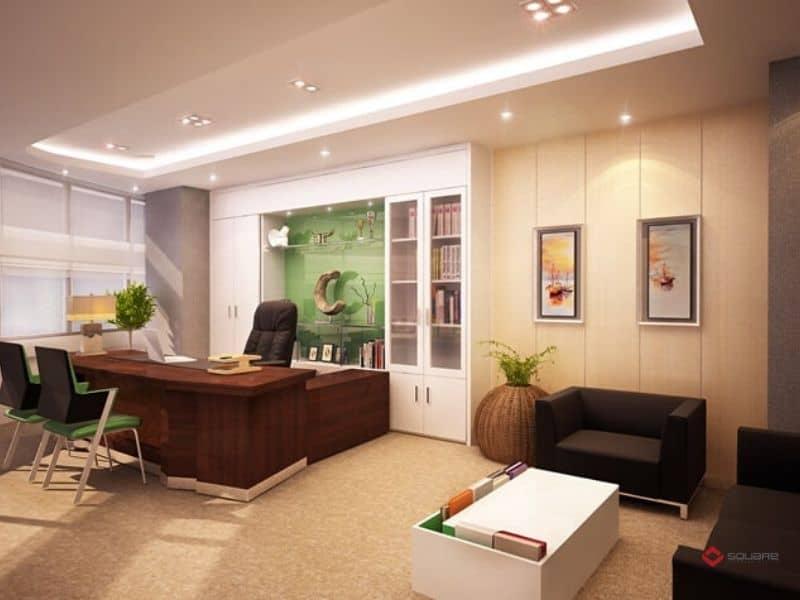 Trang trí nội thất văn phòng làm việc hiện đại