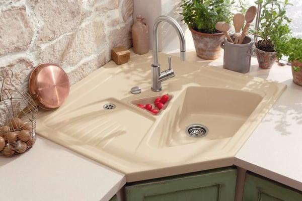 Thiết kế nội thất nhà bếp khiêm tốn với 5 mẫu bồn rửa đẹp