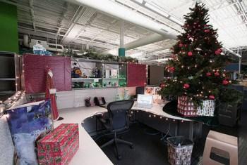 Trang trí văn phòng cho dịp giáng sinh đẹp
