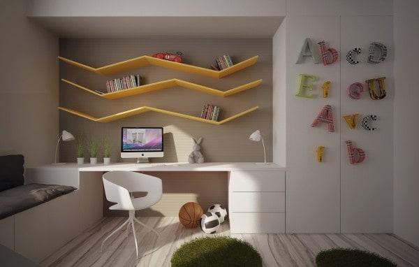 """Thiết kế phòng ngủ cho trẻ với thiết bị trang trí nội thất """"gắn liền"""" phần 1"""