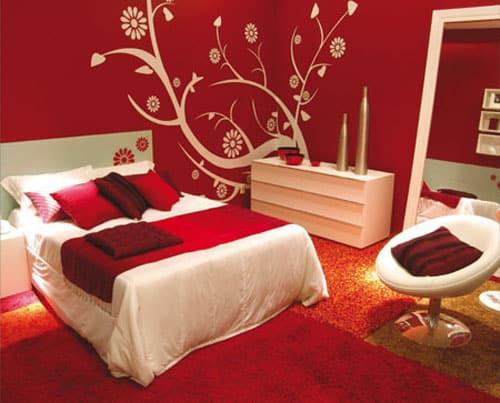Trang trí phòng bé với gam màu đỏ