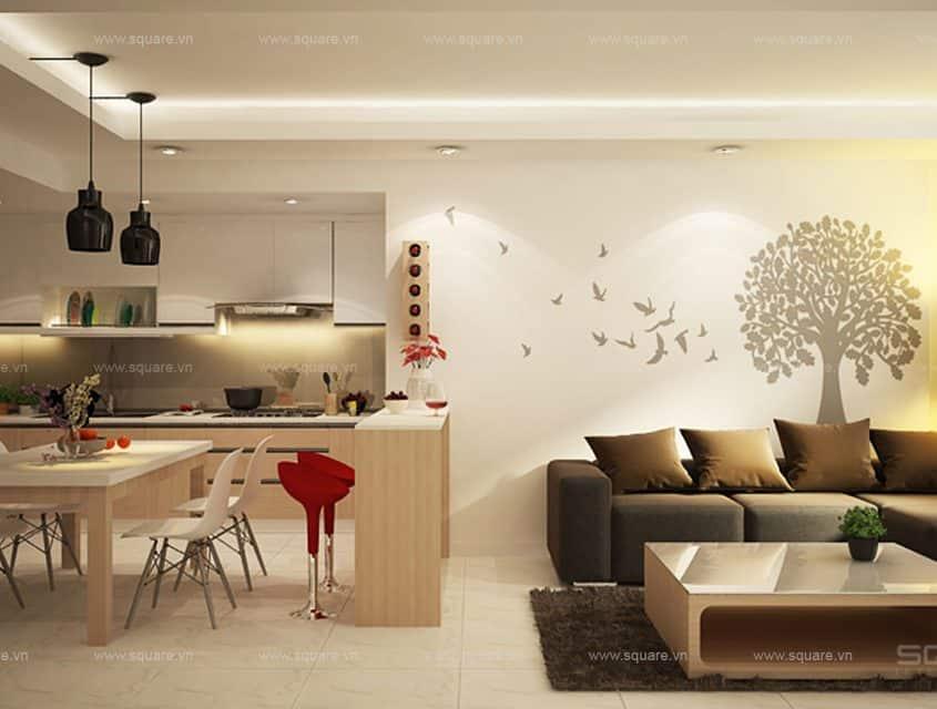 Thiết kế – Thi công Căn hộ chị Hà- Tropic Garden