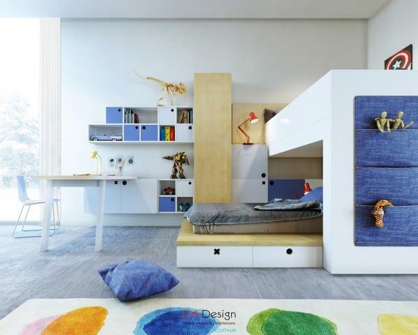 """Thiết kế nội thất với nhiều """"không gian chứa"""" cho trẻ nhỏ phần 1"""