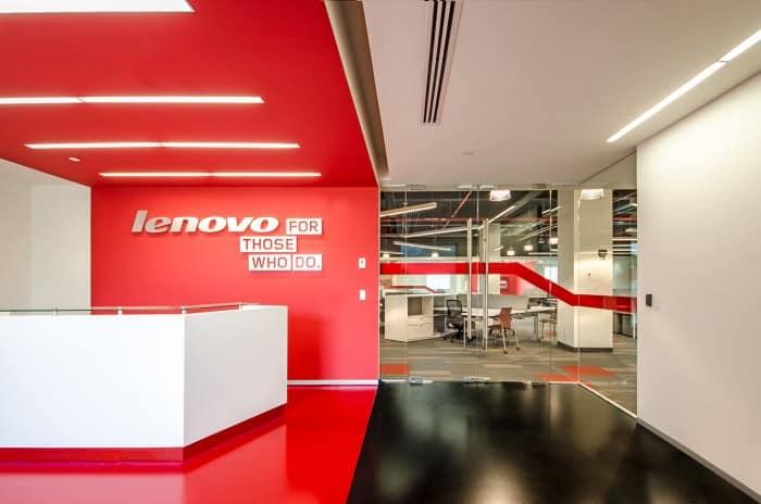 Nội thất văn phòng năng động của Lenovo ở Mexico