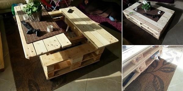 Bàn gỗ đa năng có hộc lưu trữ tiện lợi