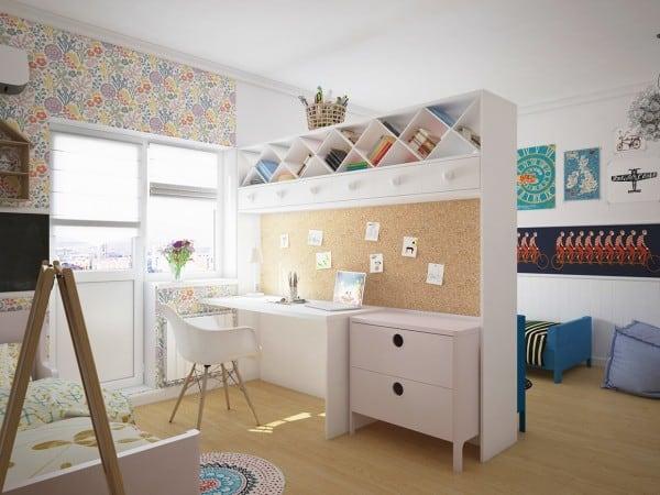 Thiết kế nội thất phòng thiếu nhi với màu sắc tươi vui
