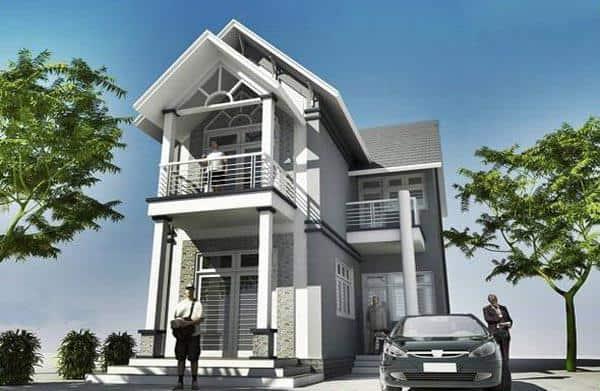 Với mẫu nhà 2 tầng chữ L, bạn có thể dễ dàng thiết kế 3-4 phòng ngủ dành cho gia đình nhiều thế hệ sinh sống.