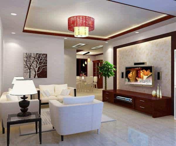 Trang Trí Trần Thạch Cao Phòng Khách Hiện Đại Hot Nhất 2019