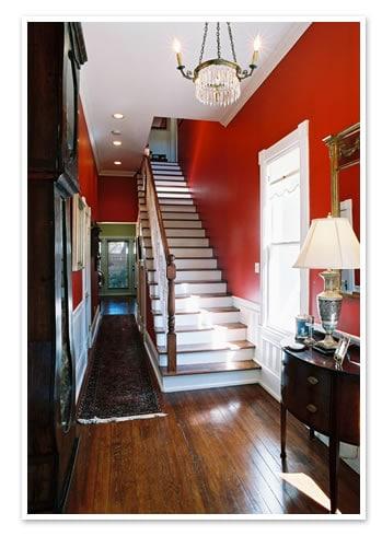 Cầu thang không đặt ở trung cung