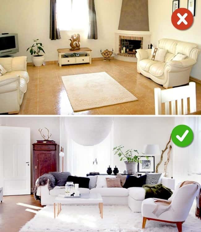 Lỗi khi bố trí nội thất phòng khách dễ gặp phải