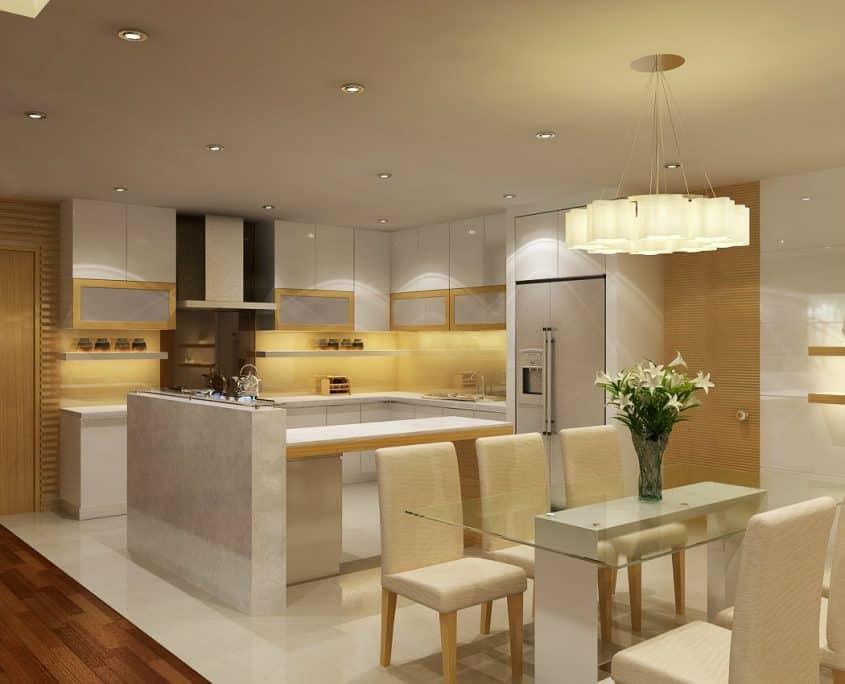 Kiêng kị cho phòng bếp trong thiết kế nội thất căn hộ
