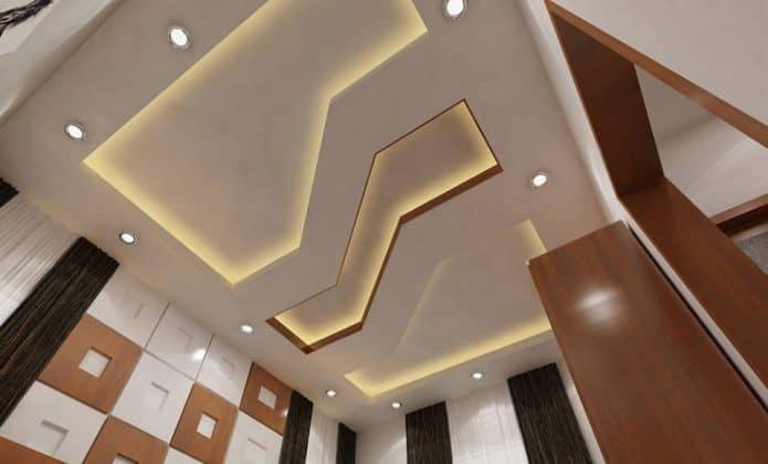 Mẫu trần thạch cao phòng khách hiện đại - bẽ gãy ánh sáng