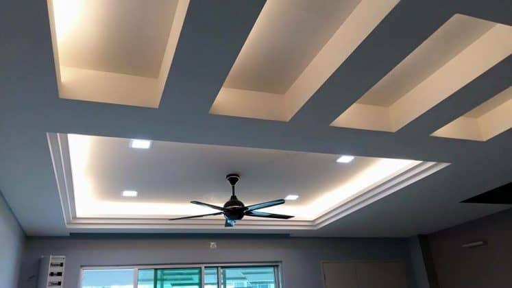 Trần thạch cao phòng khách 2019