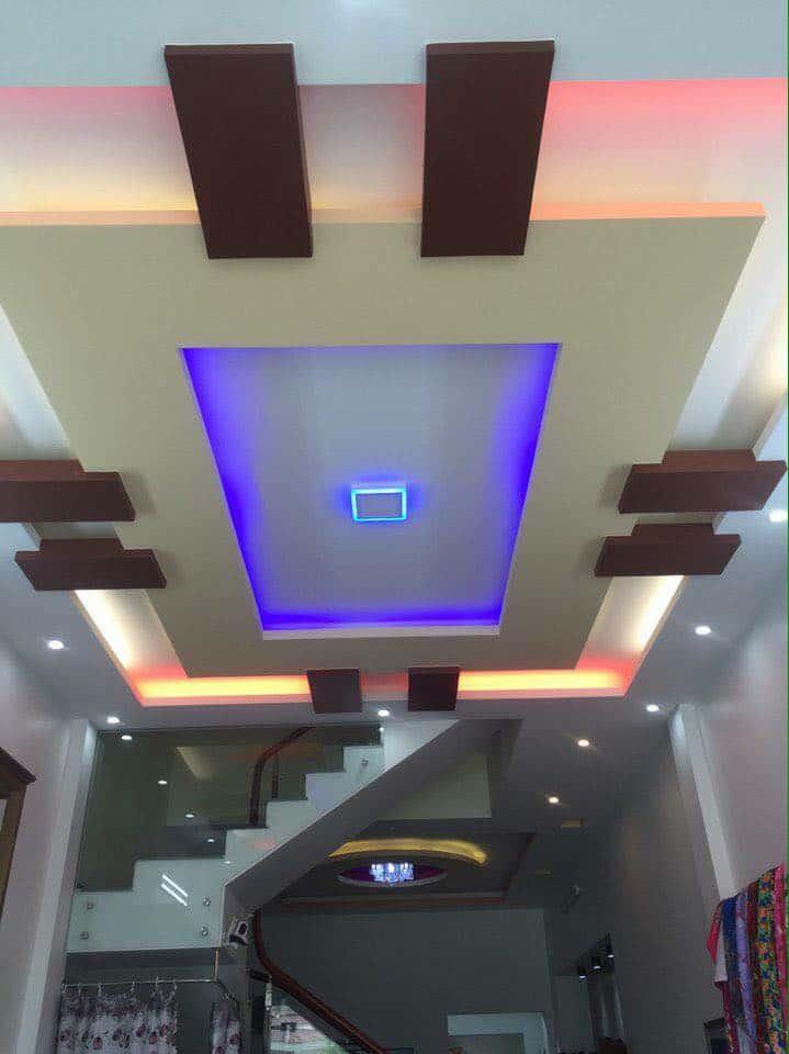 mẫu trần thạch cao phòng khách nhà ống đẹp