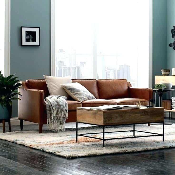Gỗ và da là hai vật liệu được sử dụng nhiều nhất trong thiết kế nội thất phòng khách