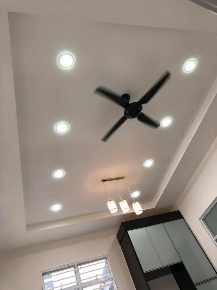 trần nhà thạch cao phòng khách đẹp 2019