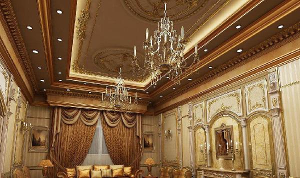 thiết kế trần thạch cao phòng khách