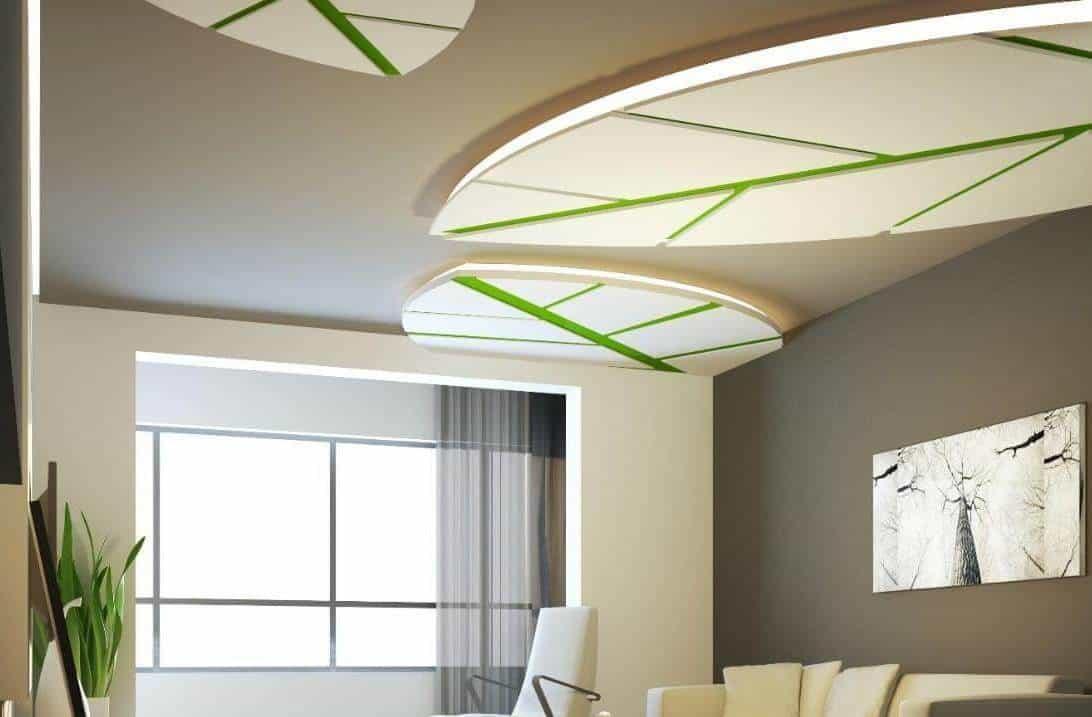 thiết kế trần thạch cao phòng khách hiện đại