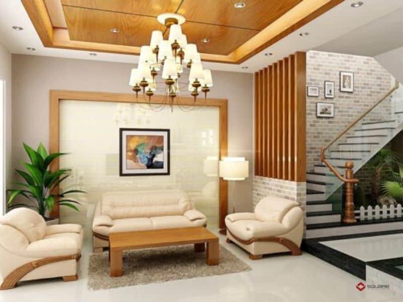 Trang trí trần thạch cao phòng khách
