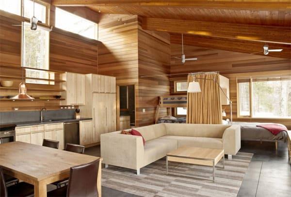 Thiết kế nội thất đẹp bằng gỗ cho biệt thự 2 tầng