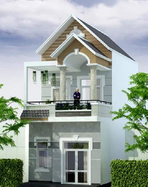 Mẫu nhà ống 2 tầng mái thái có nhiều ưu điểm nên được nhiều người ưa chuộng.