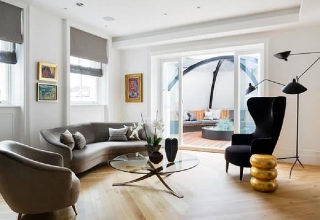Phòng khách tận dụng tối đa yếu tố ánh sáng