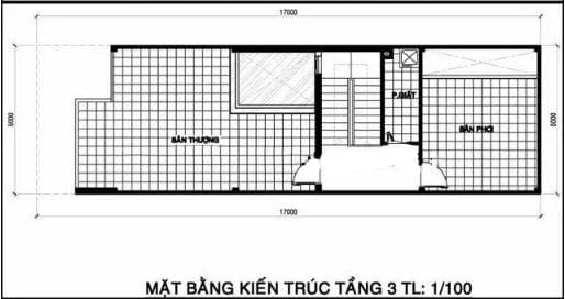 Tầng tum trong thiết kế nhà phố 2 tầng 1 tum
