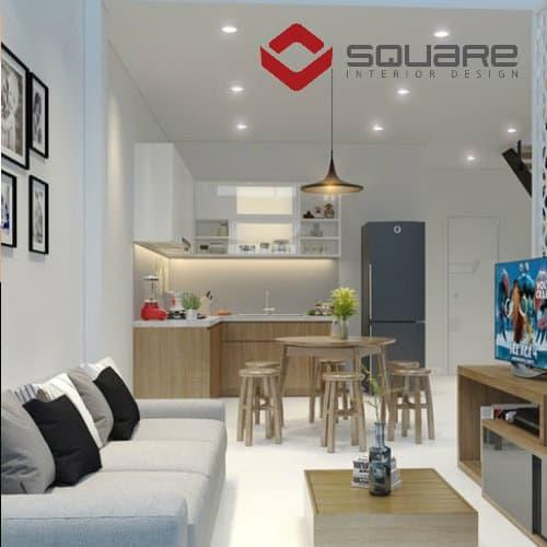 Cách bố trí phòng khách khi thiết kế nhà 2 tầng