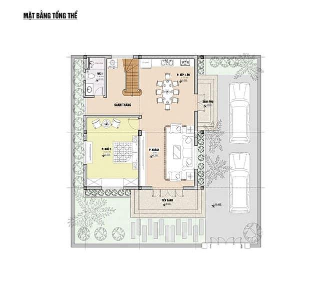 Mẫu Biệt Thự 2 Tầng 90m2 Theo Phong Cách Tân Cổ Điển Tại TPHCM