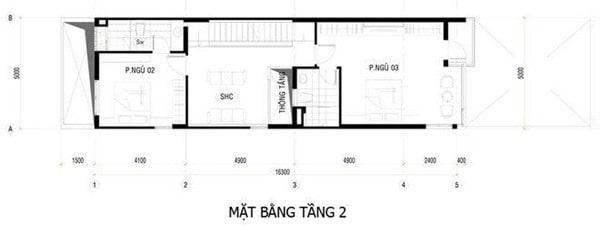 Bố trí tầng 2 trong thiết kế nhà phố 3 tầng đẹp