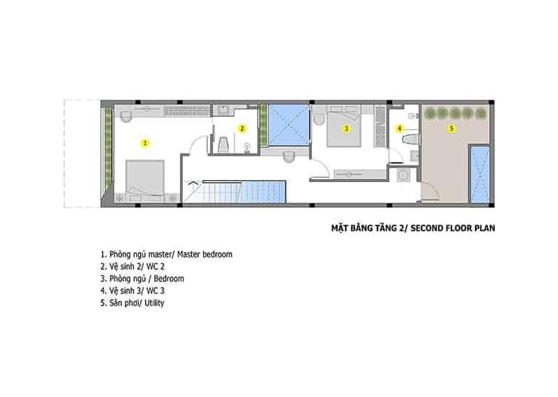 Thiết Kế Nhà Mẫu 2 Tầng Hiện Đại Với 3 Phòng Ngủ Tiện Dụng