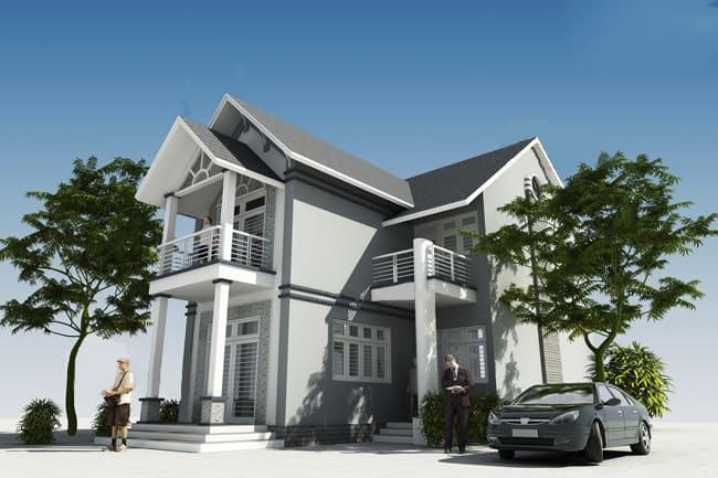 3 Mẫu thiết kế nhà xinh 2 tầng chỉ với 400 triệu siêu đẹp và tiết kiệm