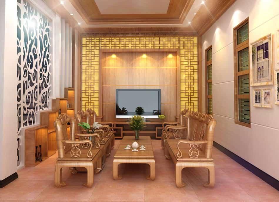 Trang trí phòng khách đẹp và ấn tượng với các mẫu vách hiện đại sau