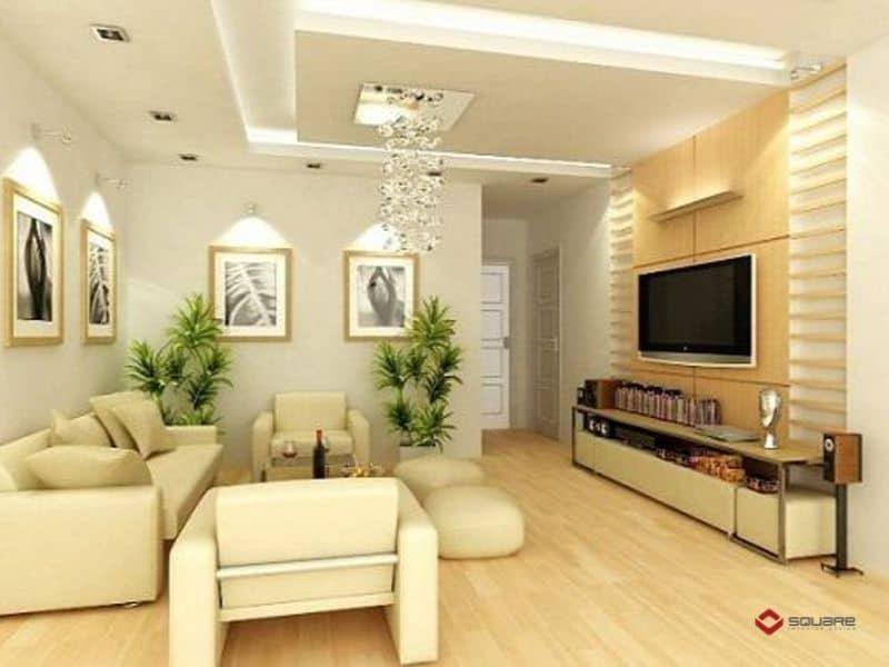 trang trí trần nhà phòng khách